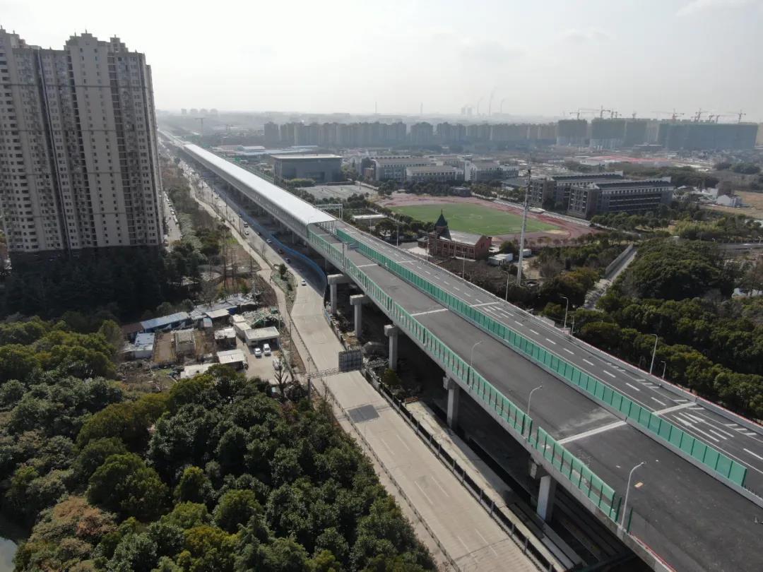 从卢浦大桥到浦江镇只需8分钟!济阳路高架完成施工 即将通车