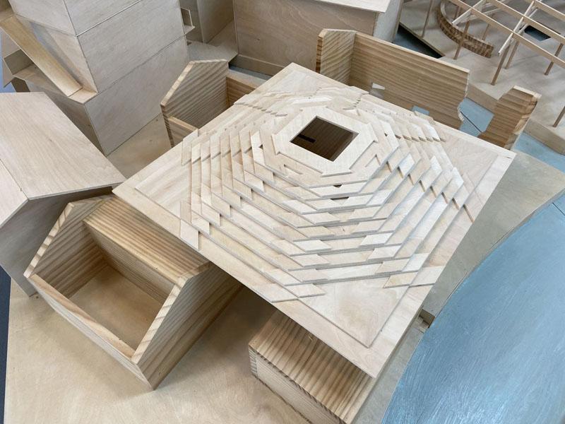 中國木構建筑巡展在寧波新世界開展