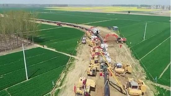 我國首條直供雄安新區的天然氣主干管道開工
